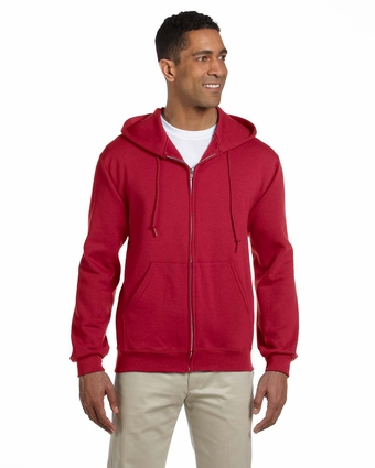 9.5 oz., 50/50 Super Sweats® NuBlend® Fleece Full-Zip Hood: (4999)