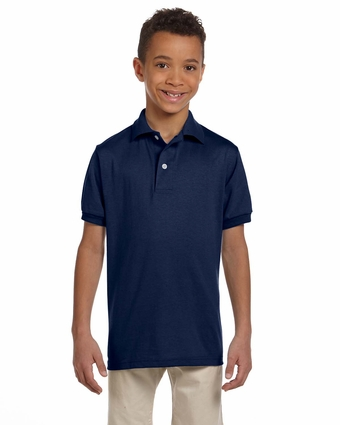 Youth 5.6 oz., 50/50 Jersey Polo with SpotShield™: (437Y)