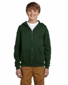 Youth 8 oz., 50/50 NuBlend® Fleece Full-Zip Hood: (993B)