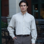 Jonathan Corey Men's Twill Shirt: Long Sleeve Performance Brushed (622)