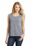 Juniors Vintage Wash Muscle Pocket Tank