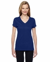 Ladies' 4.7  oz. 100% Sofspun™ Cotton Jersey Junior V-Neck T-Shirt: (SFJVR)