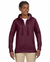 Ladies' 7 oz. Organic/Recycled Heathered Fleece Full-Zip Hood: (EC4580)