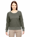 Ladies' 7 oz. Organic/Recycled Heathered Fleece Raglan Pullover: (EC4505)