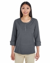 Ladies' Central Cotton Blend Melange Knit Top: (DG230W)