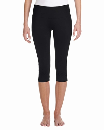 Ladies' Cotton/Spandex Capri Fit Legging