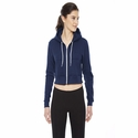 Ladies' Cropped Flex Fleece Zip Hoodie: (F397)