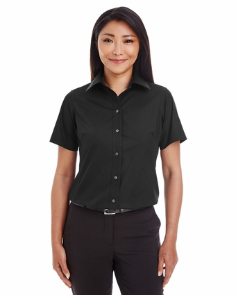Ladies' Crown Collection Solid Broadcloth Short-Sleeve Shirt