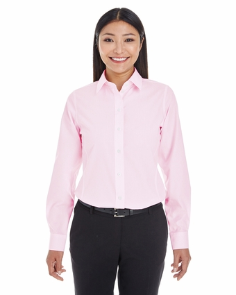 Ladies' Crown Collection™ Striped Shirt: (DG534W)