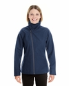 Ladies' Edge Soft Shell Jacket with Fold-Down Collar: (NE705W)