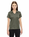 Ladies' Exhilarate Coffee Charcoal Performance Polo with Back Pocket: (78803)