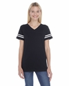 Ladies' Fine Jersey Football Tee