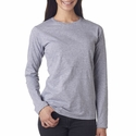 Ladies' Lightweight Fitted Long-Sleeve T-Shirt: (374L)