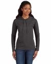 Ladies' Lightweight Long-Sleeve Hooded T-Shirt: (887L)