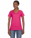 Ladies' Lightweight V-Neck T-Shirt: (88VL)