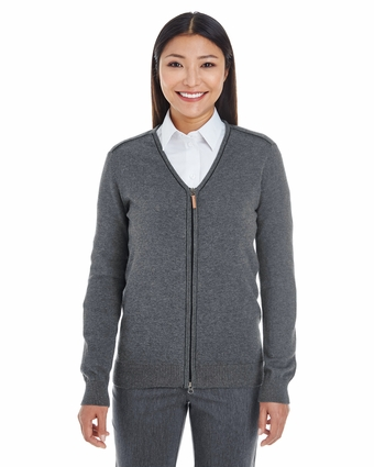 Ladies' Manchester Fully-Fashioned Full-Zip Sweater: (DG478W)