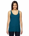 Ladies' Melange Burnout Airy Tank