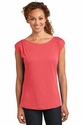 Ladies Modal Blend Gathered Shoulder Tee