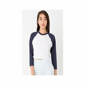Ladies' Poly-Cotton Crop 3/4 Sleeve Raglan: (SABB354)