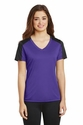 Ladies PosiCharge Competitor Sleeve-Blocked V-Neck Tee