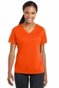 Ladies Posicharge Racer Mesh V-Neck Tee