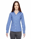 Ladies' Precise Wrinkle-Free Two-Ply 80's Cotton Dobby Taped Shirt: (78690)