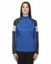 Ladies' Quick Performance Interlock Half-Zip Top: (78214)