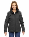 Ladies' Rivet Textured Twill Insulated Jacket: (78209)