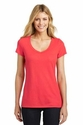 Ladies Shimmer Wide V-Neck Tee