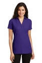Ladies Silk Touch Y-Neck Polo