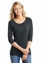 Ladies Tri-Blend Lace 3/4 Sleeve Tee