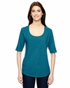 Ladies' Triblend Deep Scoop Half-Sleeve T-Shirt: (6756L)