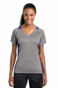 Ladies V-Neck Heather Colorblock Contender Tee