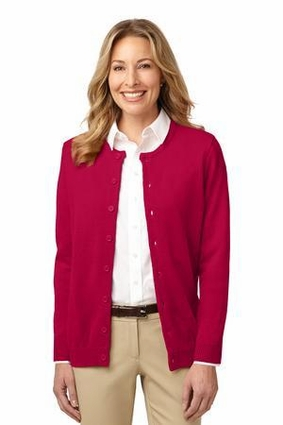 Ladies Value Jewel-Neck Cardigan