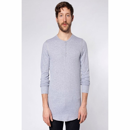 Long Sleeve Thermal Henley: (T457)