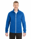 Men's Amplify Melange Fleece Jacket: (NE704)