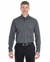 Men's Central Cotton Blend Melange Button Down: (DG230)