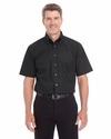 Men's Crown Collection Solid Broadcloth Short-Sleeve Shirt