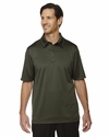Men's Exhilarate Coffee Charcoal Performance Polo with Back Pocket: (88803)