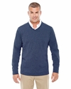 Men's Fairfield Herringbone V-Neck Pullover: (D884)