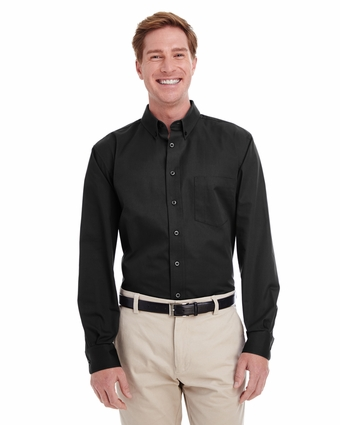 Men's Foundation 100% Cotton Long-Sleeve Twill Shirt with Teflon