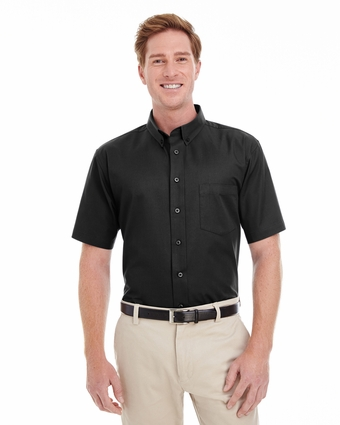Men's Foundation 100% Cotton Short-Sleeve Twill Shirt Teflon