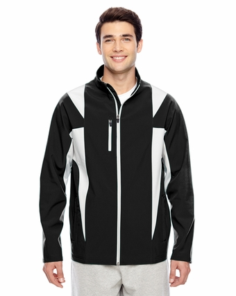 Men's Icon Colorblock Soft Shell Jacket: (TT82)