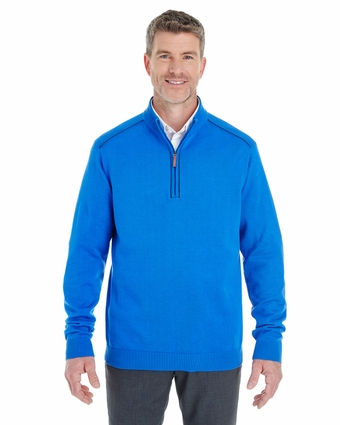 Men's Manchester Fully-Fashioned Half-Zip Sweater: (DG478)