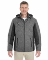 Men's Midtown Insulated Fabric-Block Jacket with Crosshatch Melange: (DG710)