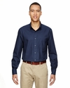 Men's Paramount Wrinkle-Resistant Cotton Blend Twill Checkered Shirt: (87043)