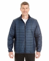 Men's Portable Interactive Printed Packable Puffer: (NE701)