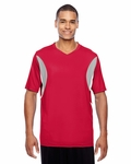 Men's Short-Sleeve Athletic V-Neck All Sport Jersey: (TT10)