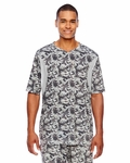 Men's Short-Sleeve Athletic V-Neck All Sport Sublimated Camo Jersey: (TT12)