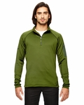 Men's Stretch Fleece Half-Zip: (80890)